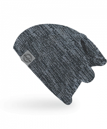 Kasi Fresh two-tone slouch skull with badge beanies