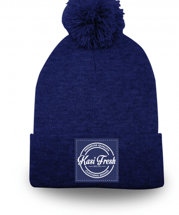 Kasi Fresh pom pom beanie with cuffed beanies