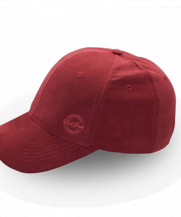 Kasi Fresh curved peak suede cap