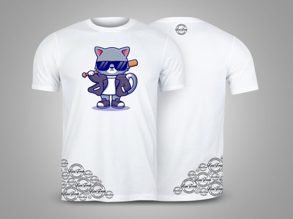 Kasi Fresh White T-shirts mockup front and back used as design template.